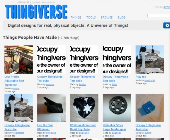 occupy thingiverse