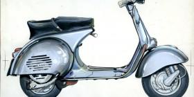 La Vespa - il product design italiano. Immagine: Bozzetto di Vespa, Archivio Storico Piaggio