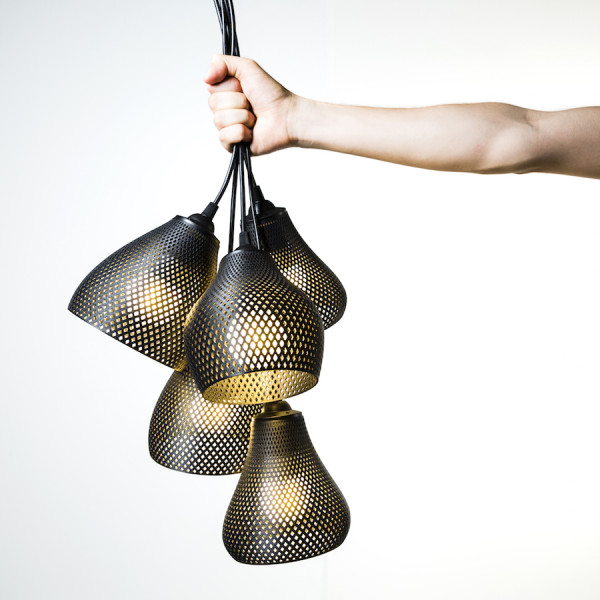 Le tre lampade della linea Rumbles