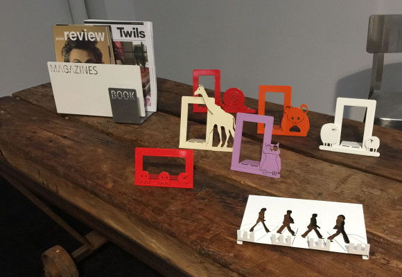 The ZoO frames, the keyholder and the magazine rack of Microstudio