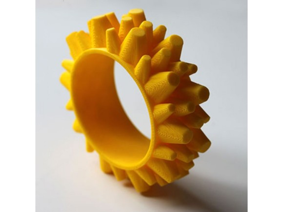 Stratosfero G – 3D Printed Yellow Bracelet