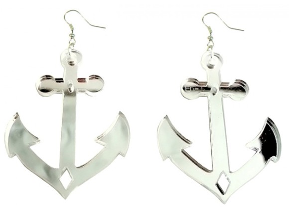 Anchor Earrings in Lasercut Acrylic