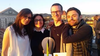 Stefania Zorzan di Lasermio, Laura De Benedetto di MakeTank inieme a Alessandro Giacomelli e Marco Radaelli