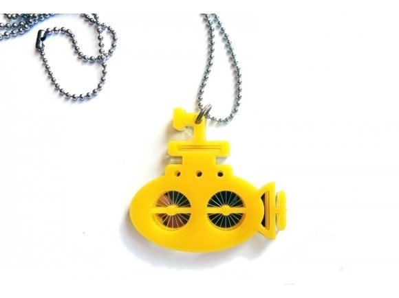 Pendant Yellow Submarine Laser Cut